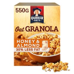 Quaker Oat Honey & Almond Granola 550g