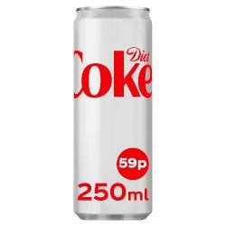 Diet Coke 250ml PMP 59p