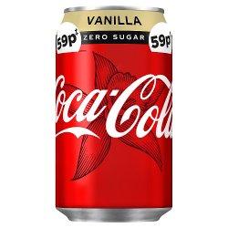 Coca-Cola Zero Sugar Vanilla 330ml PMP 59p