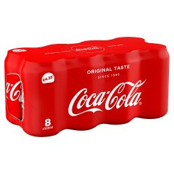 Coca-Cola Original Taste 8 x 330ml Cans PM £4.35