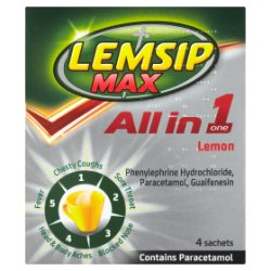 Lemsip Max All in One Lemon 4 Sachets