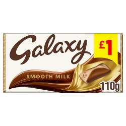 Galaxy Smooth Milk Chocolate Price Marked Block 110g