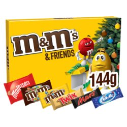 M&M's & Friends Chocolate Medium Christmas Selection Box 144g