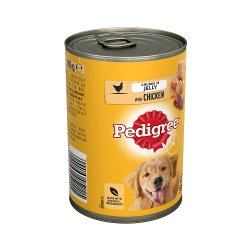 Pedigree Adult Wet Dog Food Tin Chicken in Jelly 385g