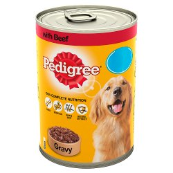 Pedigree Dog Food Tin Beef in Gravy 400g MPP 85p