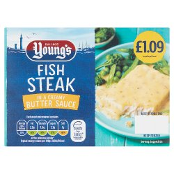 Young's Fish Steak in a Creamy Butter Sauce PMP £1.09 140g