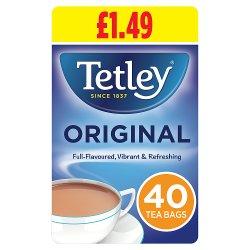 Tetley Original 40 Tea Bags 125g