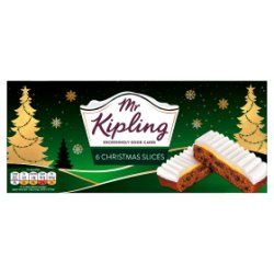 X Mr Kipling 6 Xmas Slices