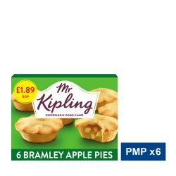 Mr Kipling 6 Bramley Apple Pies