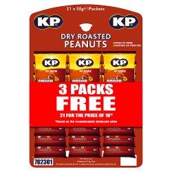 KP Dry Roasted Peanuts 21 x 50g