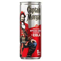 Captain Morgan Original Spiced Gold and Cola Ready to Drink Premix Can 250ml
