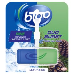 Bloo Duo Burst Pine Toilet Rim Block 40g