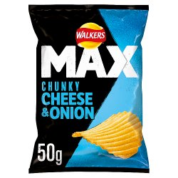 Walkers Max Cheese & Onion Crisps 50g