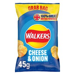 Walkers Cheese & Onion Crisps 45g