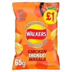 Walkers Chicken Tackle Masala Crisps £1 RRP PMP 65g