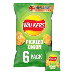 Walkers Pickled Onion Multipack Crisps 6x25g