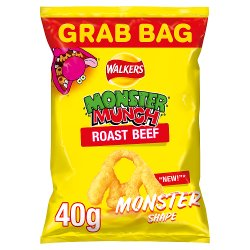 Walkers Monster Munch Roast Beef Snacks 40g