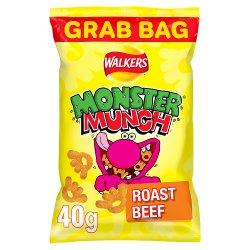 Mega Monster Munch Roast Beef Snacks 40g