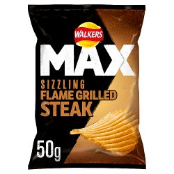 Walkers Max Flame Grilled Steak Crisps 50g