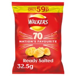 Walkers Ready Salted Crisps PMP 32.5g