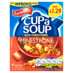Batchelors Cup a Soup with Croutons Minestrone 4 Pack 94g