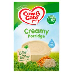 Cow & Gate Creamy Porridge Baby Cereal 125g