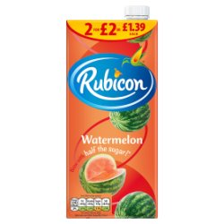 Rubicon Watermelon Juice Drink 1L, PMP £1.39 or 2 for £2