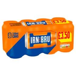 IRN-BRU 8 x 330ml Cans, PMP £3.50