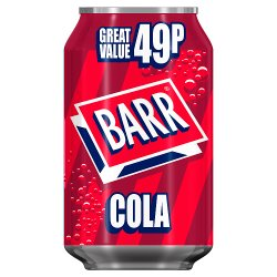 Barr Cola 330ml Can, PMP 49p
