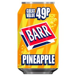 Barr Pineapple 330ml Can, PMP 49p