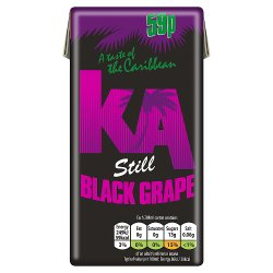 KA Still Black Grape Juice 288ml Carton, PMP 59p