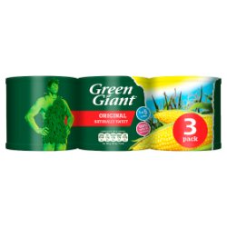 Green Giant Original Sweetcorn 3 x 340g