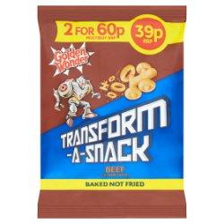 Golden Wonder Transform-A-Snack Brave Beef Flavour Snacks 30g