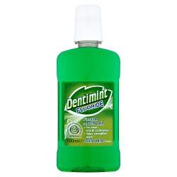 Dentimint Fluoride Mouthwash Fresh Mint 500ml