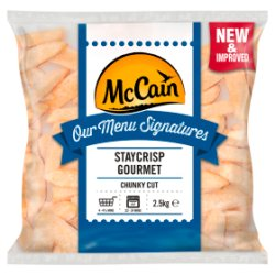 McCain Our Menu Signatures Staycrisp Gourmet Crispy Coated Chunky Chips 2.5kg