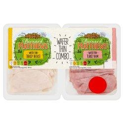 Bernard Matthews Turkey Breast & Turkey Ham Wafer Thin 2 x 140g (280g)