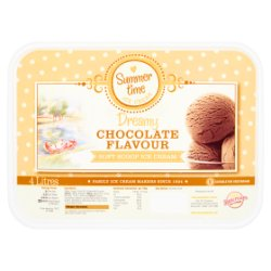 Summer Time Dreamy Chocolate Flavour Soft Scoop Ice Cream 4 Litres