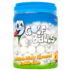 Zed Candy 180 Golf Balls Delicious Minty Flavoured Bubble Gum 990g