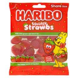 HARIBO Squidgy Strawbs Bag 140g