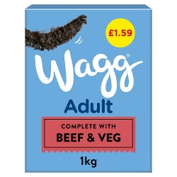 Wagg Adult Rich in Beef with Veg & Tasty Gravy 1kg