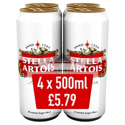 Stella Artois 4 For GBP5.79