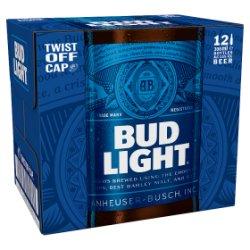 Bud Light Lager Beer Bottles 12 x 300ml