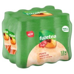 Fuze Tea Peach and Hibiscus 12 x 400ml PMP £1