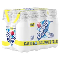 Oasis Aquashock Chilled Cherry 12 x 500ml