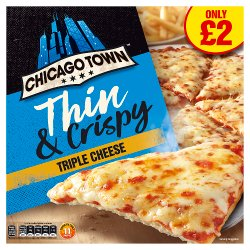Chicago Town Thin & Crispy Triple Cheese Pizza 305g
