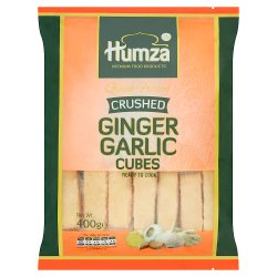 Humza Premium Food Products Quick Frozen Crushed Ginger Garlic Cubes 400g