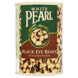 White Pearl Black Eye Beans in Salted Water 400g