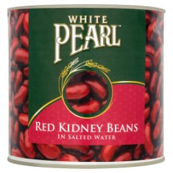 White Pearl Red Kidney Beans in Salted Water 2.55kg