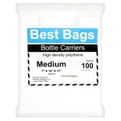 Best Bags 100 Medium Bottle Carriers