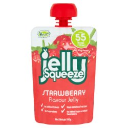 FruityPot Jelly Squeeze Strawberry Flavour Jelly 95g